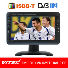 China manufacture 7'' portable digital tv dvb-t2