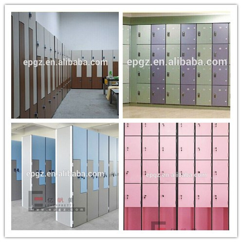 Waterproof hpl compact laminate key locker for fitness spa center