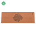 Eco-friendly 3-5mm rubber Cork Wood Yoga Mat with Customized Logo