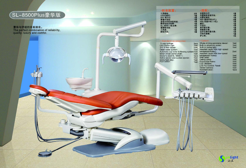 New design dental chair Model SL-8500 ISO and CE Approved hot sale with best price