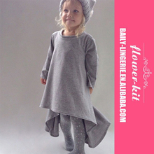 Wholesale Children European Style Clothes Girl Fashion Long Sleev Skirt Dress
