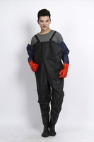 Promotional waterproof long pvc rain poncho,raincoat jumpsuits long waders pant raincoat