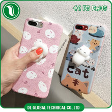 3D Animal soft tpu imd phone case new product squishy phone case for iphone 7