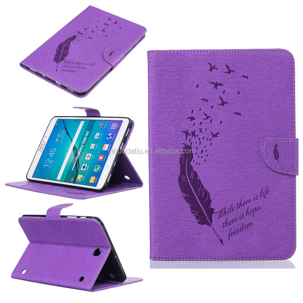 New products 1:1 original smart sleep flip stand pu leather case cover for samsung galaxy tab s2 9.7 t810 T815