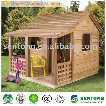 2016 hot sale kids outdoor wooden playhouse buy children Outdoor playhouse for sale used