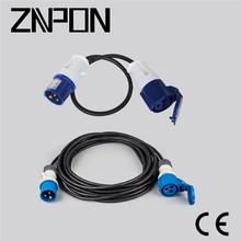 industrial 16A 2P+E 240V extension cable plug