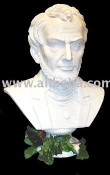 Marble statue-Abraham Lincoln Bust