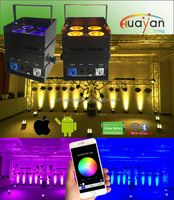 smart phone app control uplight special wash effect 4*12W 6in1 multifunction flat par wedding light