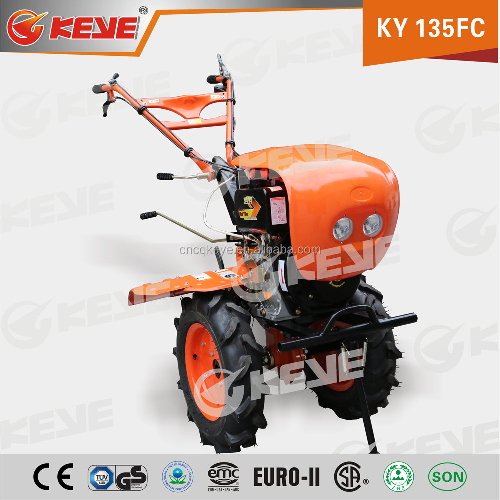 Agricultural Machinery 13HP Mini Hand Tractor Rotavator With KAMA Diesel Engine