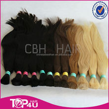 100% cuticle virgin remy cheap Brazilian human hair bulk