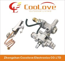 commercial cooking appliance gas control valve