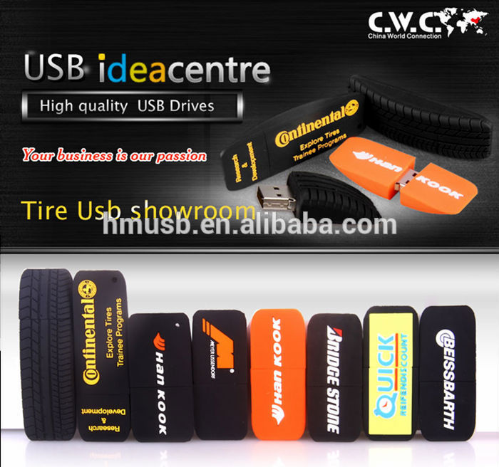 Best Promo Gifts Custom Design Car Tire Shaped usb flash drive