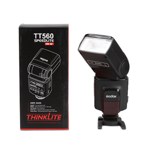 GODOX TT560, ThinkLite Speedlite Camera Flash for Nikon Canon Pentax Olympus for Sony DSLR Camera