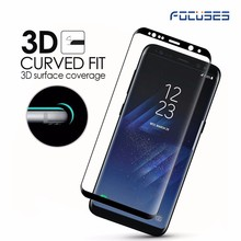 NEWEST Black Temptered glass for SamSung S8 cell phone Tempered Glass Protective film Protective eye screen guard film