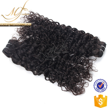 2017 Good quality loose curly virgin brazilian hair weave human