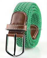 Customized design eco-friendly Cork Braided Stretch Rope Belt