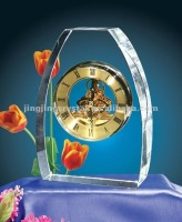 Luxury Desktop Large Wall Clock Made of Crystal China New Products