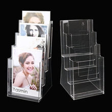 Table Turntable 3 Side Brochure Acrylic Display Stand,A4 acrylic display box brochure holder for advertising brochure