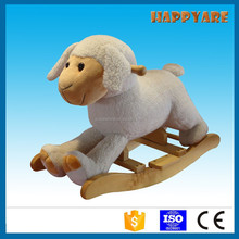 baby rocker baby plush rocking sheep with wooden base