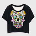 wholesale skull Printed bulk wholesale short sleeves women t-shirt