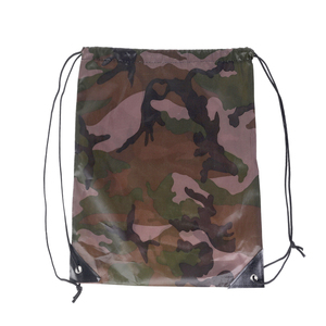 Good Quality Reusable Promotional New Design camouflage polyester oxford drawstring bag