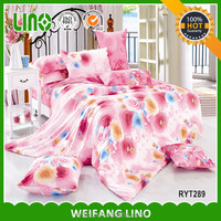 High quality for sale color bedding set/luxury bedding/satin lace comforter