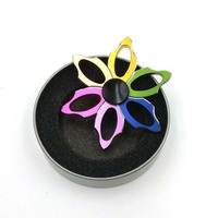 Rainbow Leaves Aluminum Fidget Hand Spinner