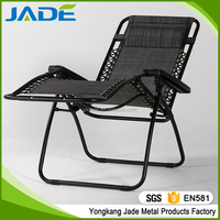 Portable outdoor Folding recline deck chair Foldable Zero Gravity Chair Foldable sling chairs with pilow