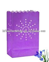 Purple Sunburst Paper Bag Luminaries decoration garden