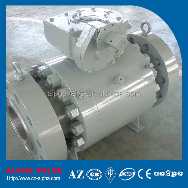 Forged High Pressure RTJ Flanged Trunnion Ball Valve