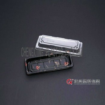 ChengXing brand pet disposable plastic packaging food sushi box