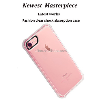 DFIFAN Super slim TPU case cover for iphone 8/8 plus,Shock absorption transparent clear case for iphone 7 /7 plus