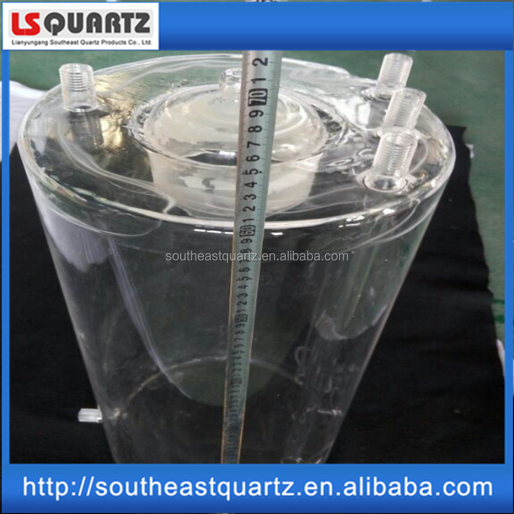 Professional customized quartz reaction caldron according to drawing