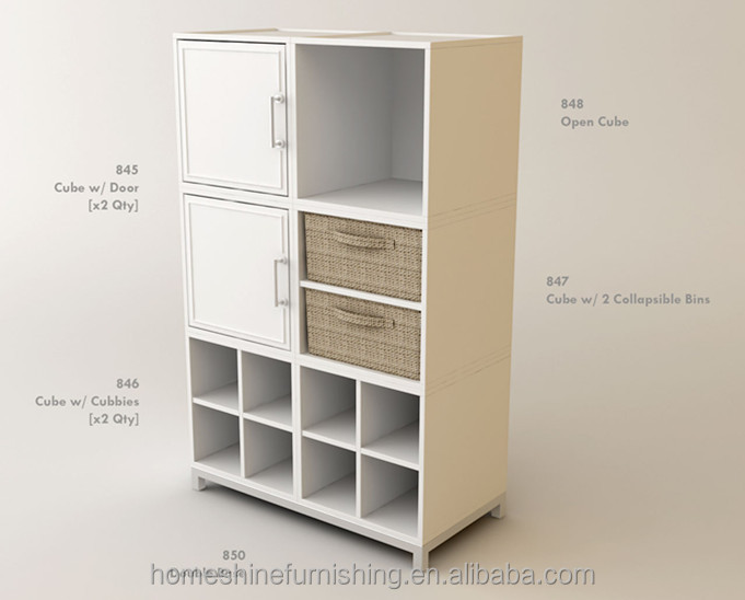 Modern simple style system collection cube storage cabinet