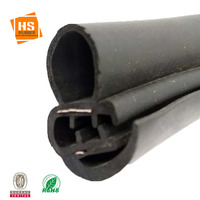 Metal insertion co-extrude epdm rubber auto trim strip