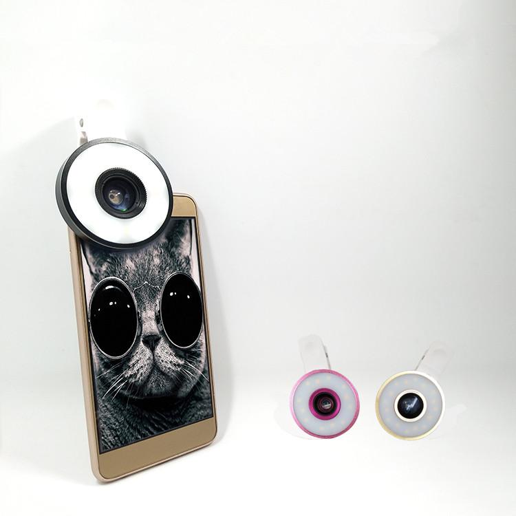 2017 Hot Sale 0,65X Grande Angular Olho de Peixe Macro Lente Da Câmera Móvel Com Melhor Qualidade e Preço Baixo