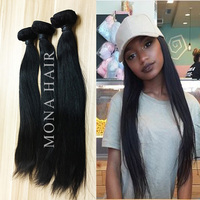 Long lasting can be wash and restyle 8a straight style 100% virgin peruvian hair weft
