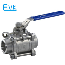MINI 3 pc ss 316 ball valve