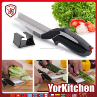 New products clever multifunctional fancy portable cooking cutter with board