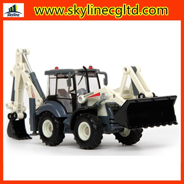 Hot selling diecast toy wholesale diecast cars 1:50 back hoe loader diecast model