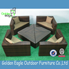 Hot sale round shape garden furniture rattan sofa set for sale