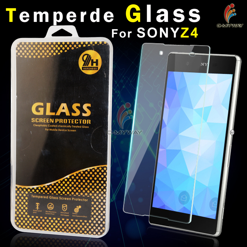 hd ultra clear tempered glass screen protector for sony xperia v, anti-scratch anti-explosion 2.5d round edge