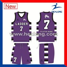 Healong Manufacturers Rain Proof Dazzle Basketball Uniforms