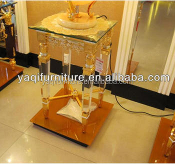 High Qualithy Factory Price Acrylic Console Table with Metal legs