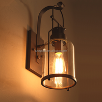 loft Interior lighting vintage rustic lighting American Style candle wall sconces