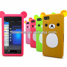 FL3086 2013 Guangzhou wholesale cute 3d bear silicone case for blackberry z10