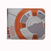The Force Awakens BB8 BB-8 wallet leather short purse coin purse w-024