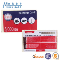 prepaid mobile scratch card with hologram scratch off hot stamping