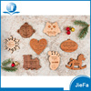 Snowflake, Foot, Heart , House Sliced Wood Accessories Christmas Ornaments For Wood Hang Deco
