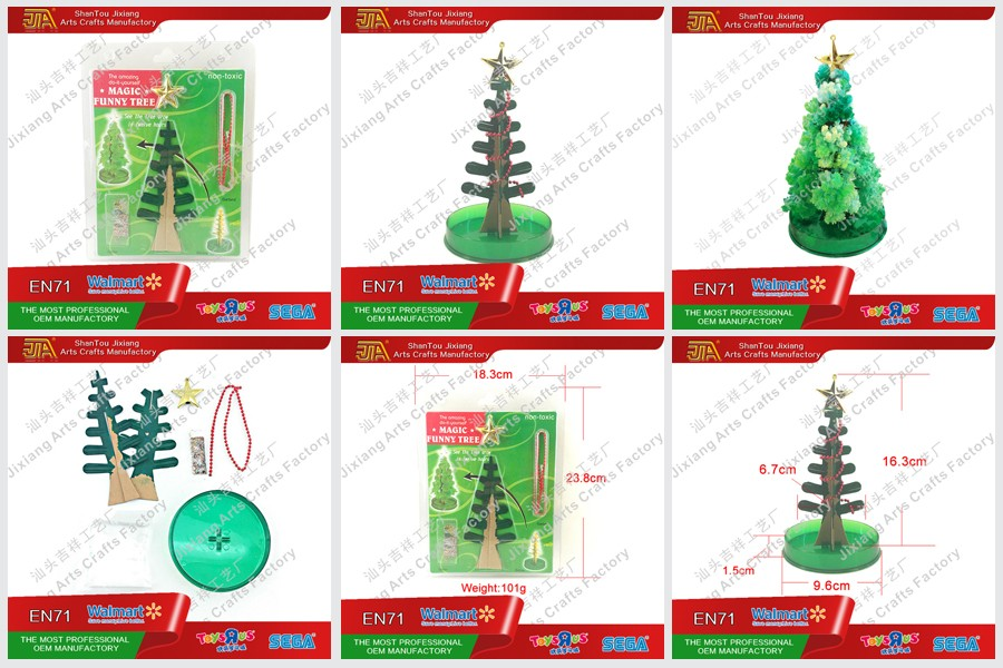 Promotion item magic paper Christmas tree